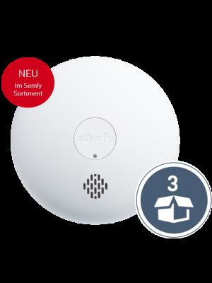 Neuheit: Somfy Rauchwarnmelder Somfy Protect im 3er Pack
